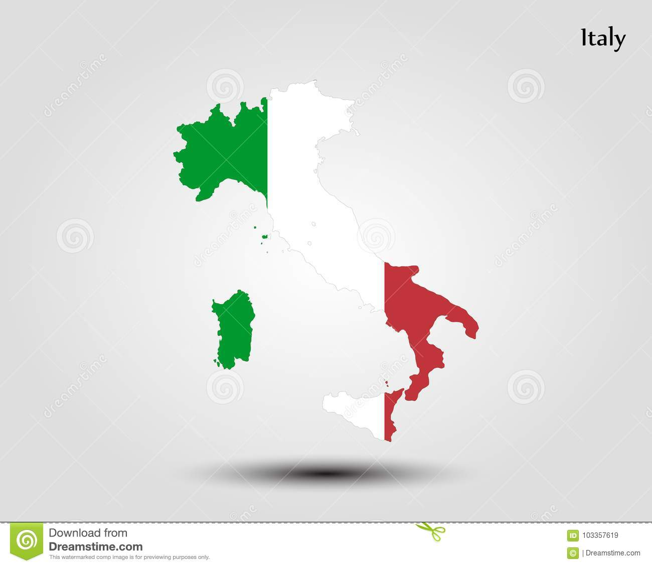Free Map Of Italy.Map Of Italy Stock Illustration Illustration Of District 103357619