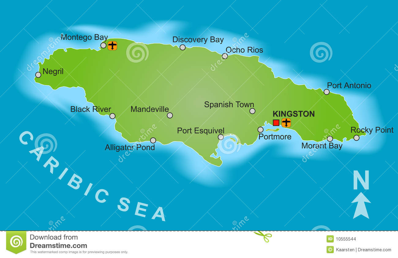 Map of jamaica stock vector illustration of isolated 10555544 download map of jamaica stock vector illustration of isolated 10555544 gumiabroncs Images
