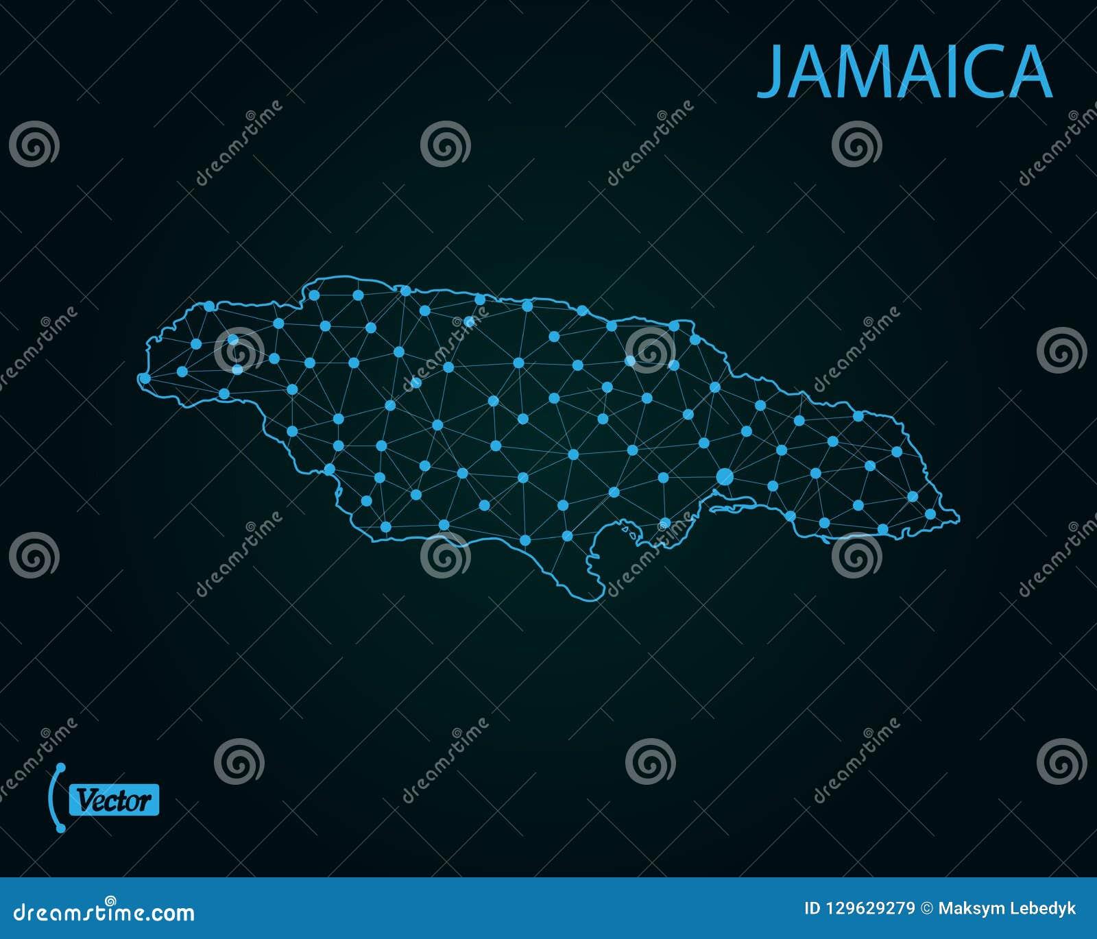 Map Of Jamaica. Vector Illustration. World Map Stock Illustration ...
