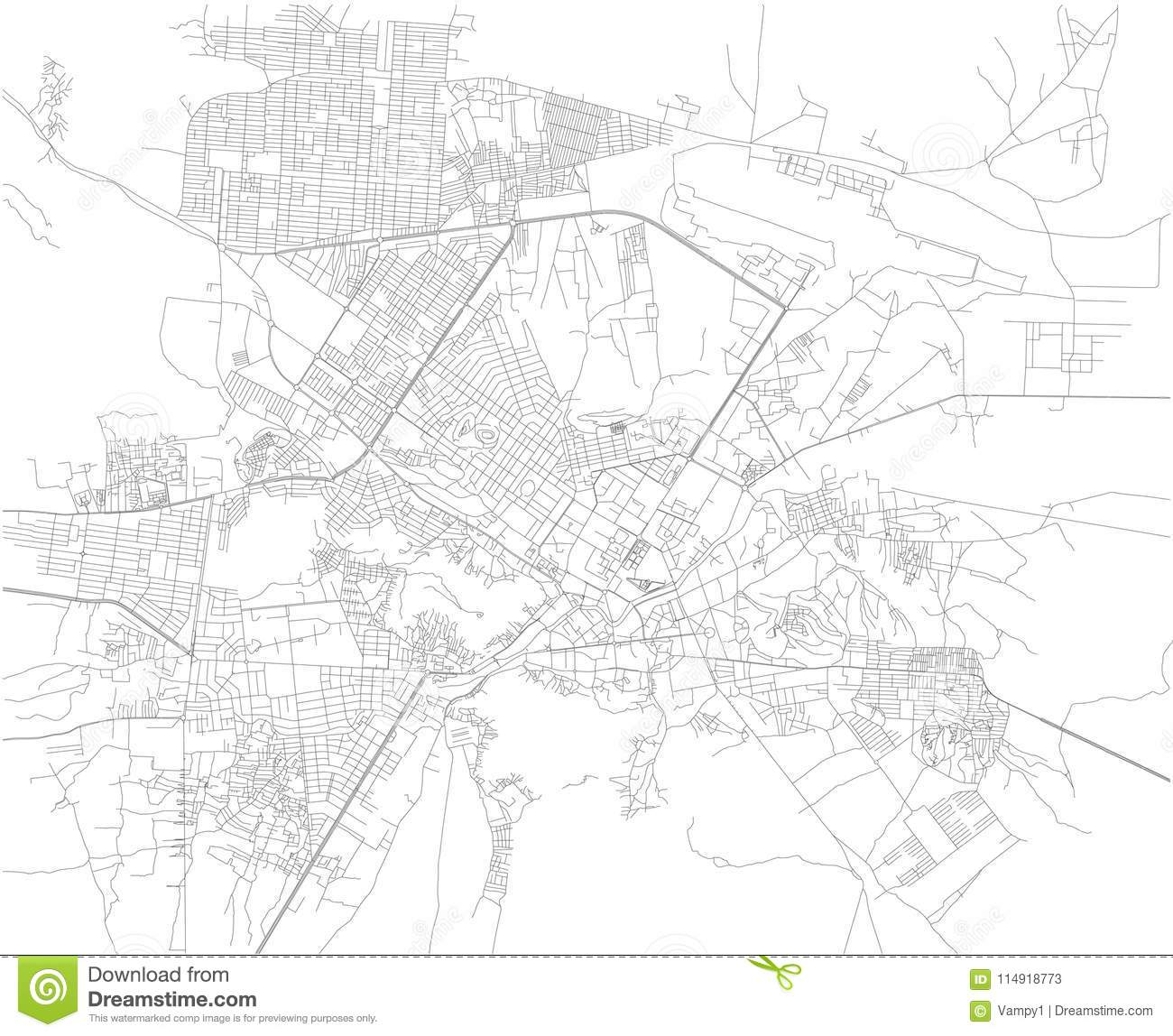 Map Of Kabul, Streets, Afghanistan. Asia Stock Vector - Illustration ...