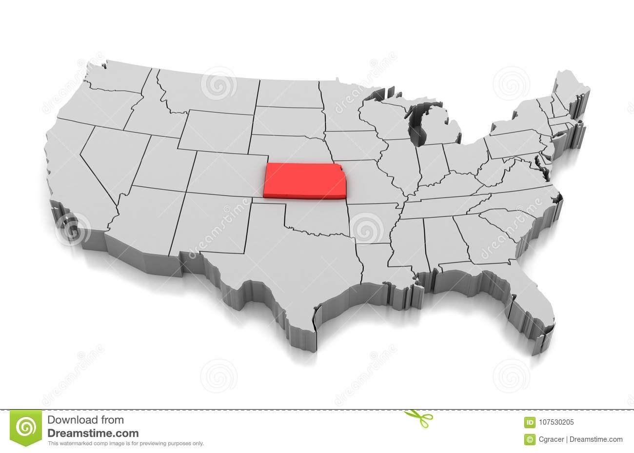 Map of Kansas state, USA stock illustration. Illustration of country Kansas On The Map Of Usa on state of kansas usa, kansas map with cities, the 50 states map with the usa, kansas statehood, kansas state map usa, philadelphia map usa, boston map usa, kansas on us map,