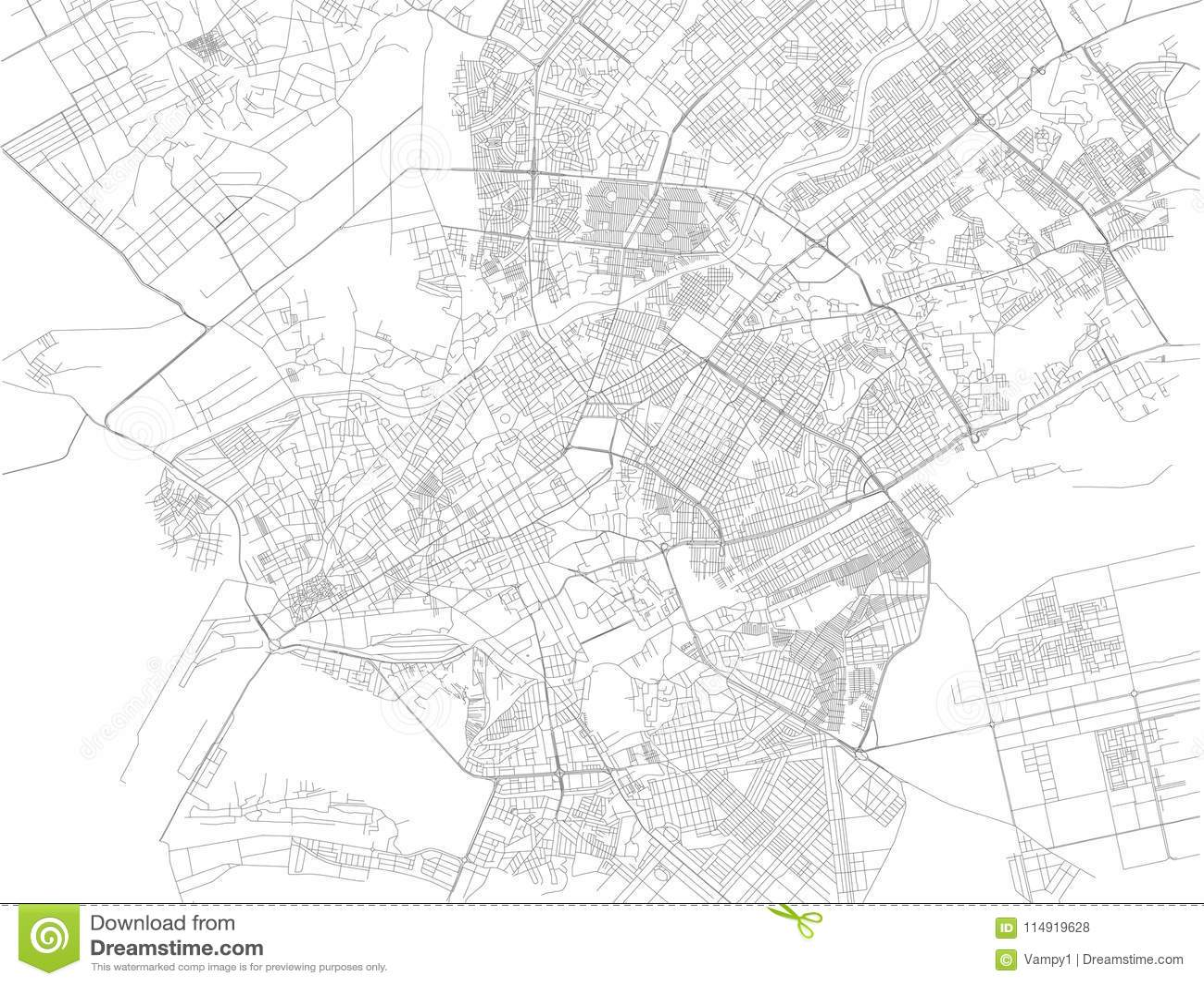 Map Of Asia Karachi.Map Of Karachi Pakistan Street View Asia Stock Vector