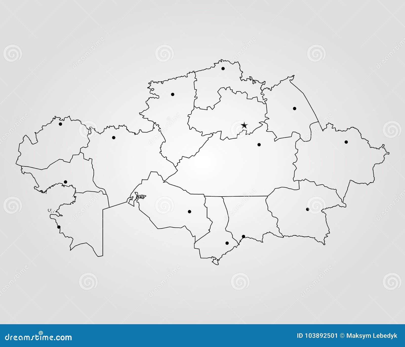 Map of kazakhstan stock illustration illustration of design 103892501 map of kazakhstan vector illustration world map gumiabroncs Images