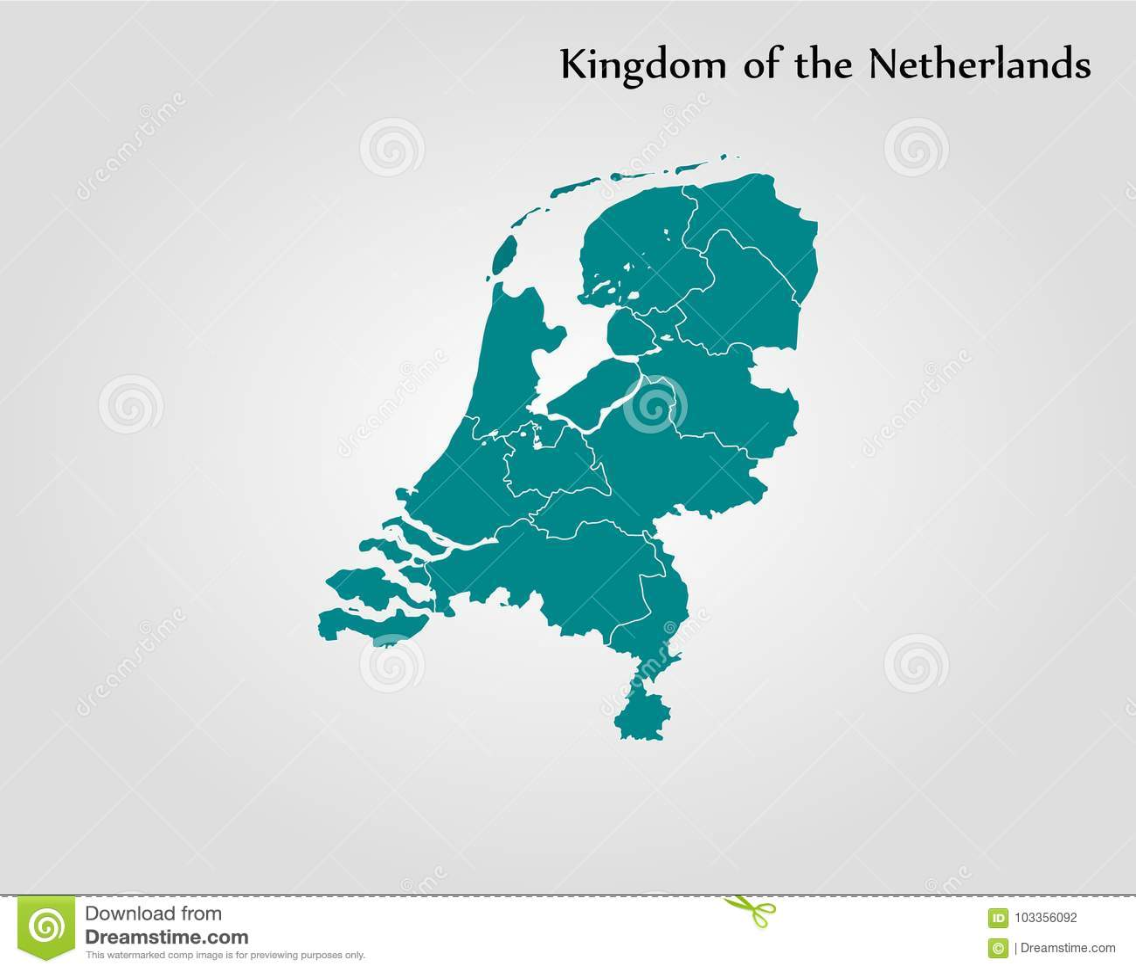 Map Kingdom Of The Netherlands Stock Illustration Illustration Of