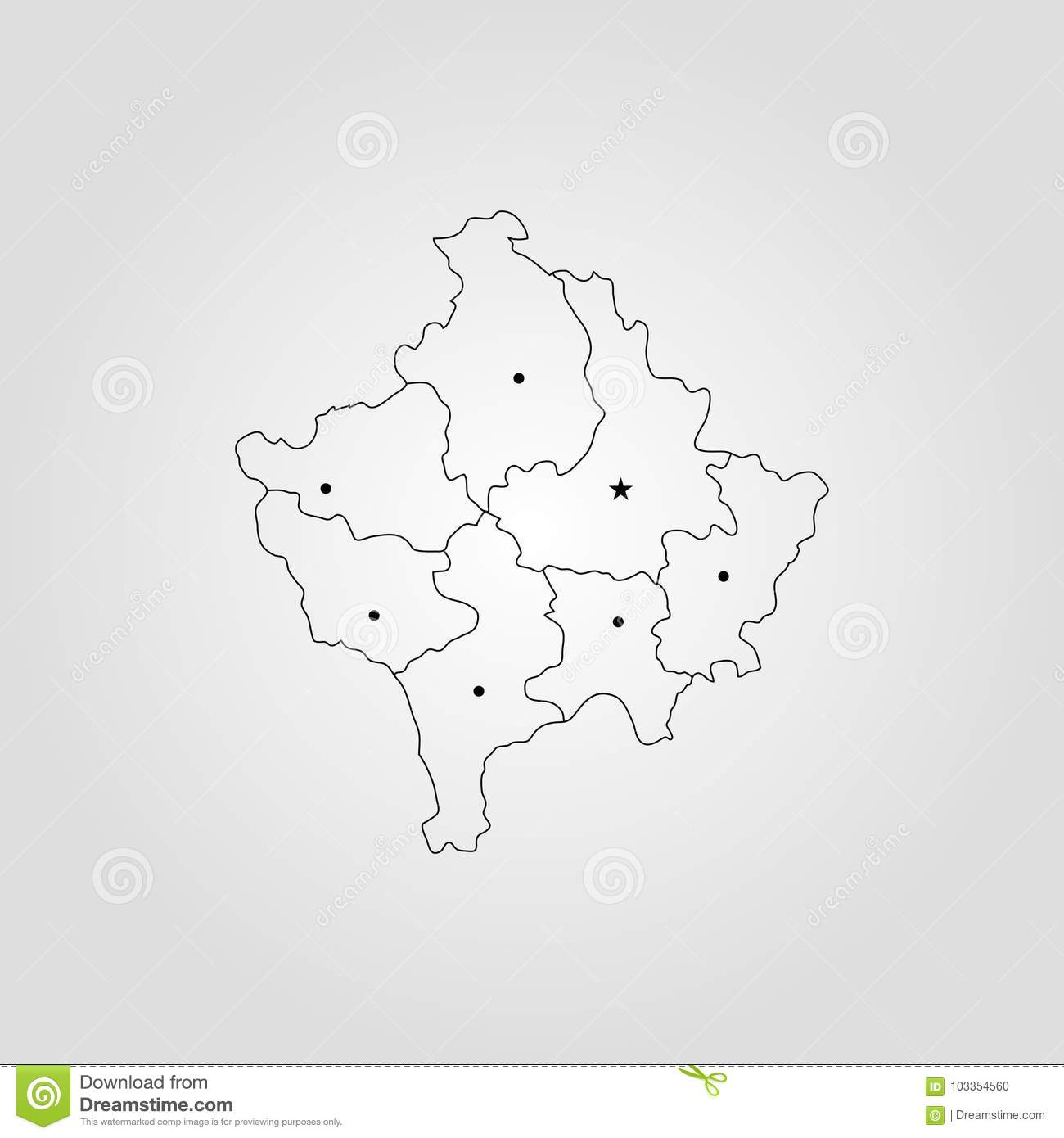 Map of kosovo stock illustration illustration of concept 103354560 download comp gumiabroncs Gallery
