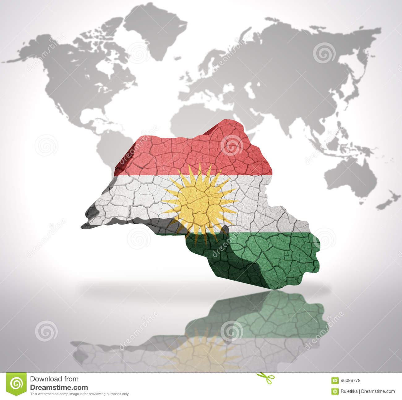 Map of kurdistan on a world map background stock illustration map of kurdistan on a world map background gumiabroncs Gallery