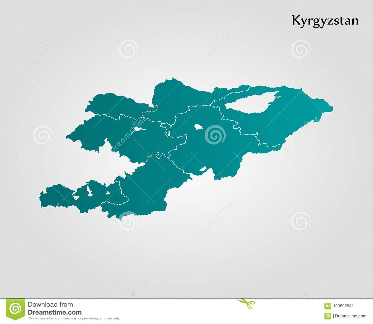 Map of kyrgyzstan stock illustration illustration of outline download comp gumiabroncs Image collections