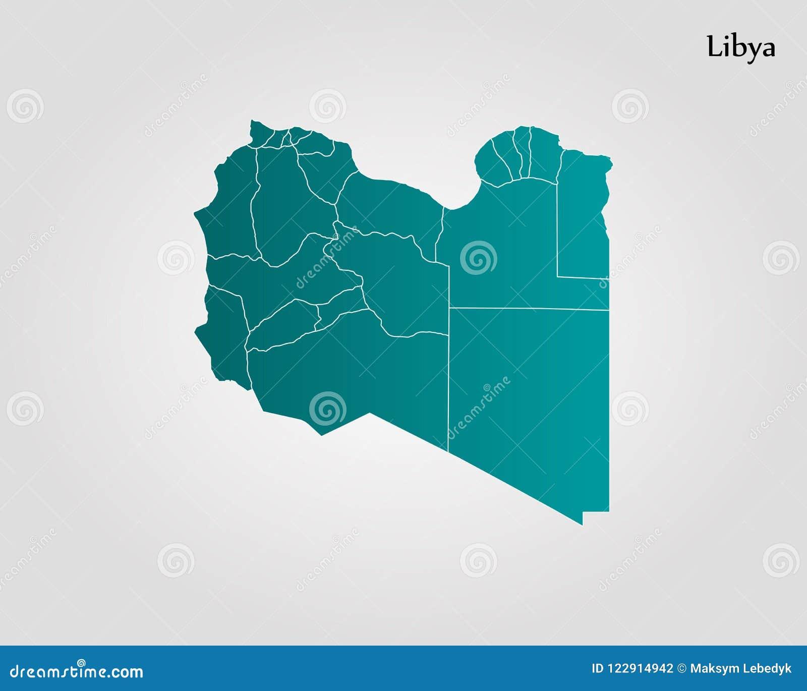 Libya On A World Map.Map Of Libya Stock Illustration Illustration Of Line 122914942