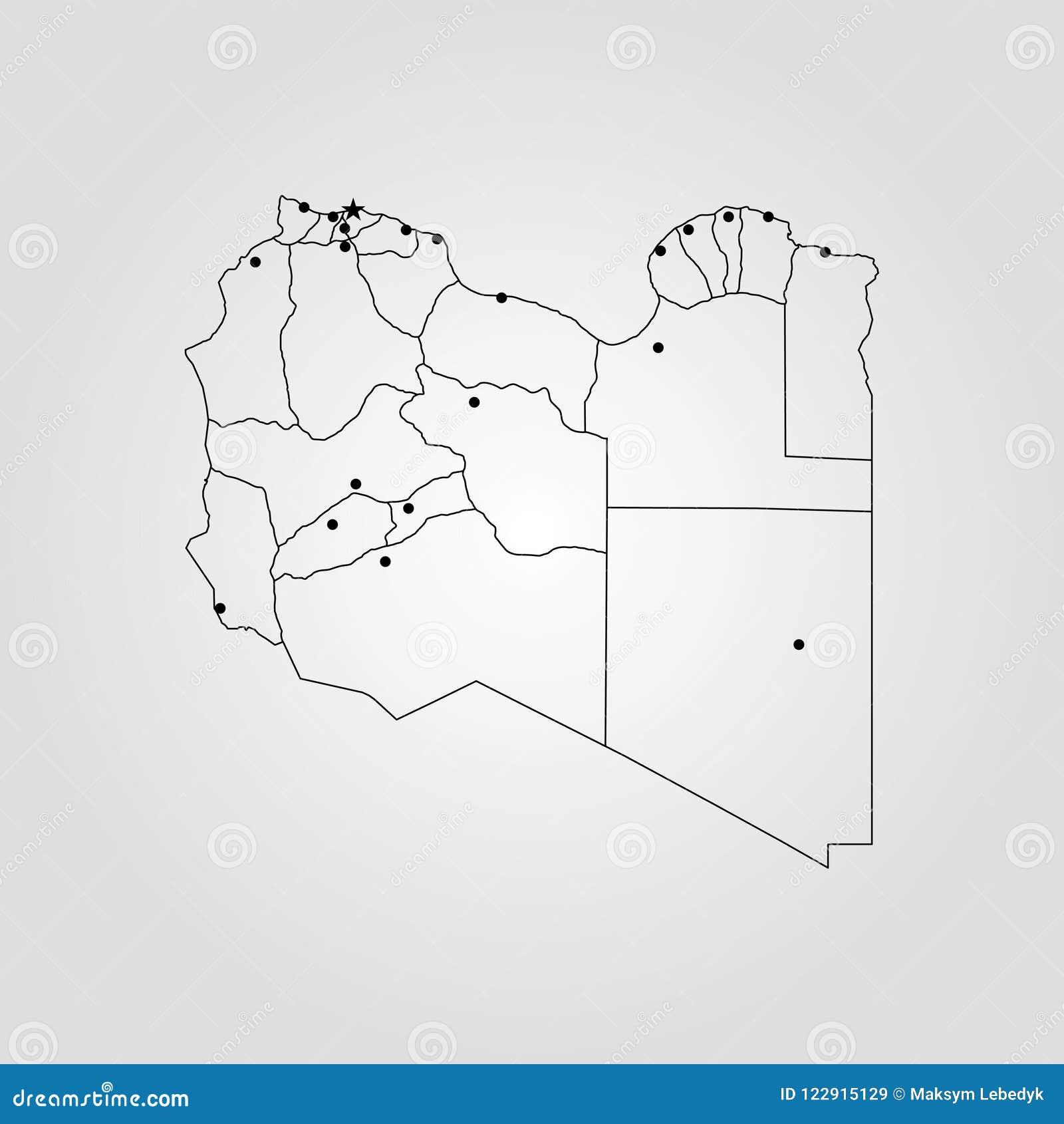Libya On A World Map.Map Of Libya Stock Illustration Illustration Of Abstract 122915129