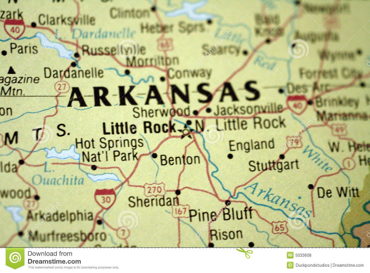 Map Of Little Rock Arkansas Royalty Free Stock Photos - Image: 5033608 LITTLE ROCK MAP