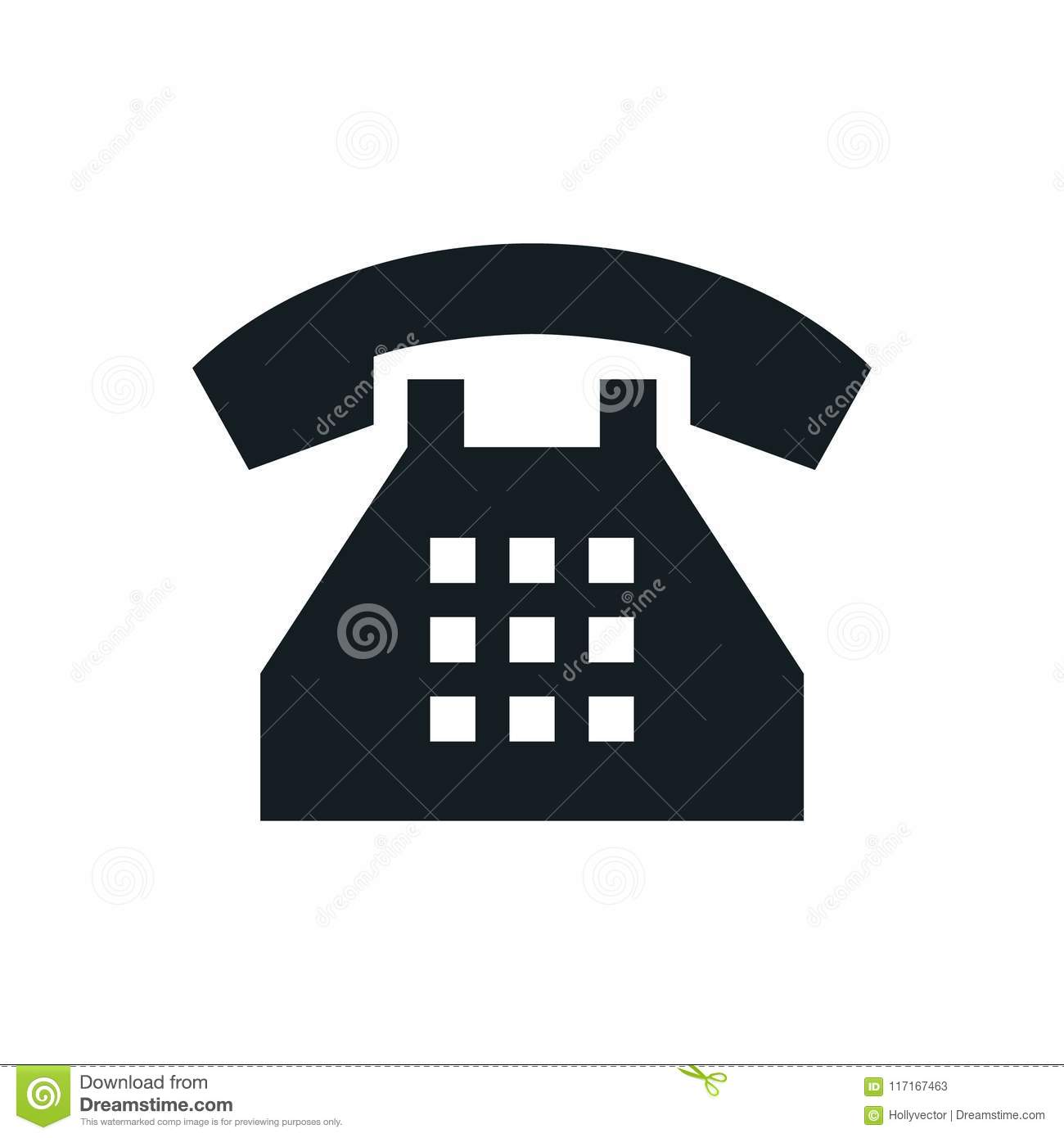 Phone Icons Telephone Symbol Stock Vector Illustration Of Flat