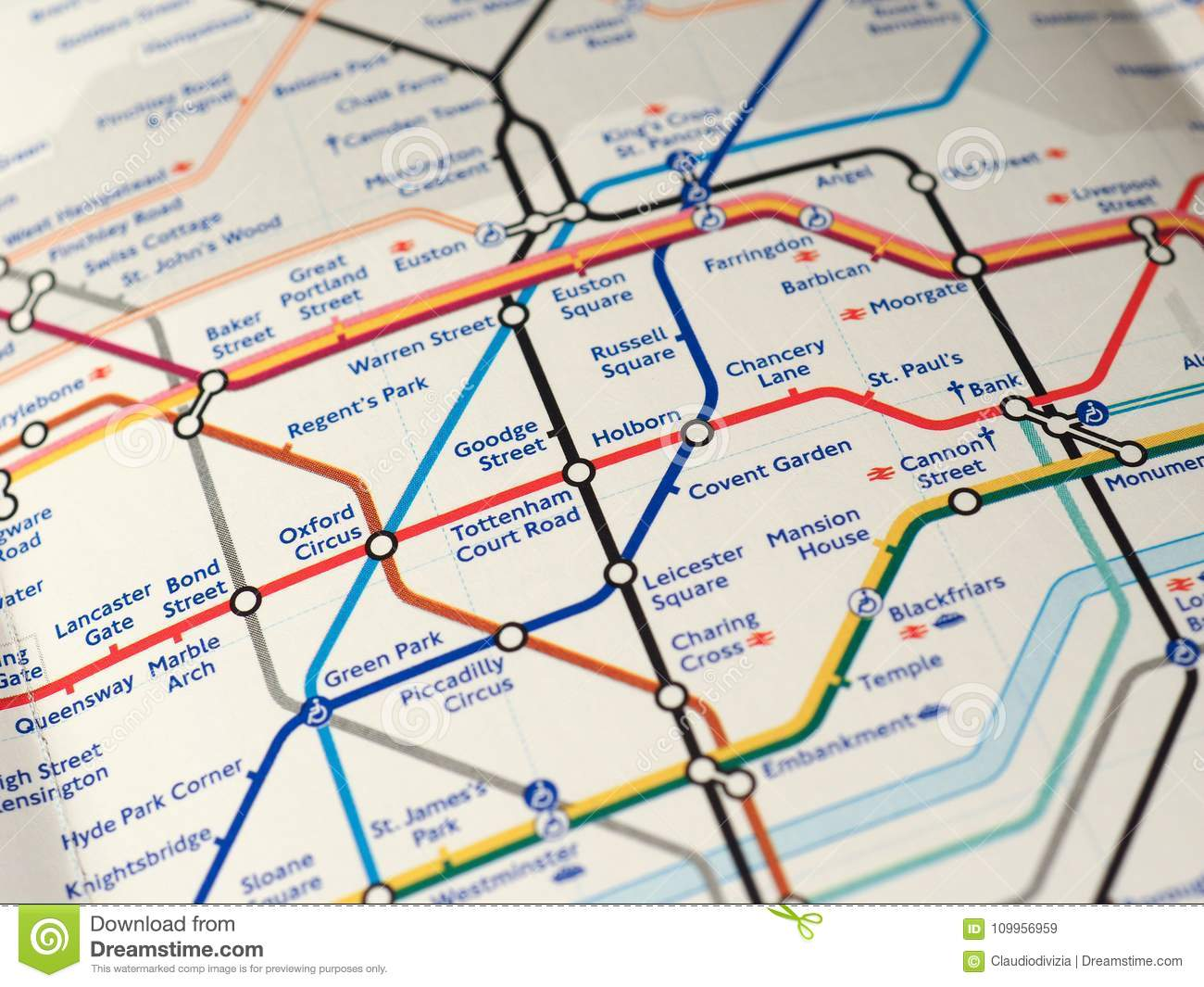 Map Of London Underground Editorial Stock Image Image Of Oxford