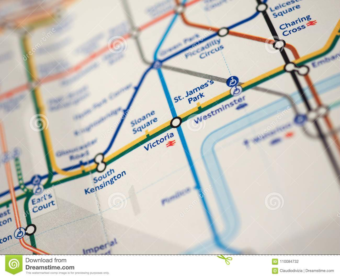 London Stations Map.Map Of London Underground Stock Photo Image Of Mass 110084732