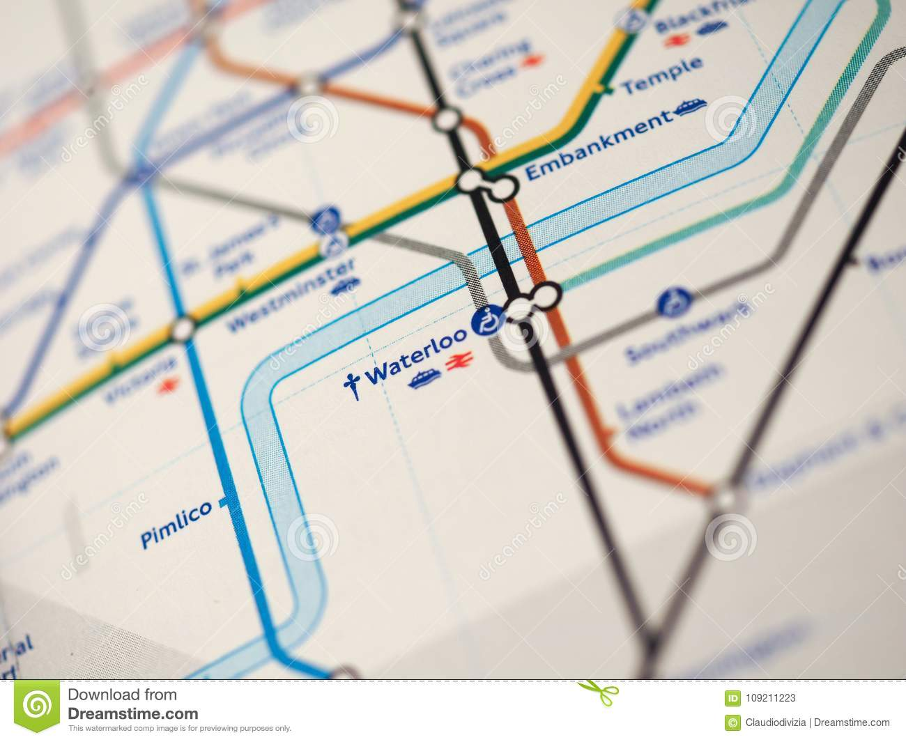 London Stations Map.Map Of London Underground Stock Image Image Of Great 109211223