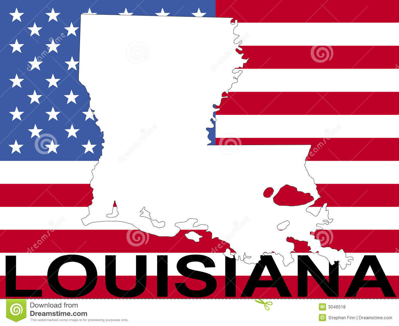 Royalty Free Stock Photo Download Map Of Louisiana