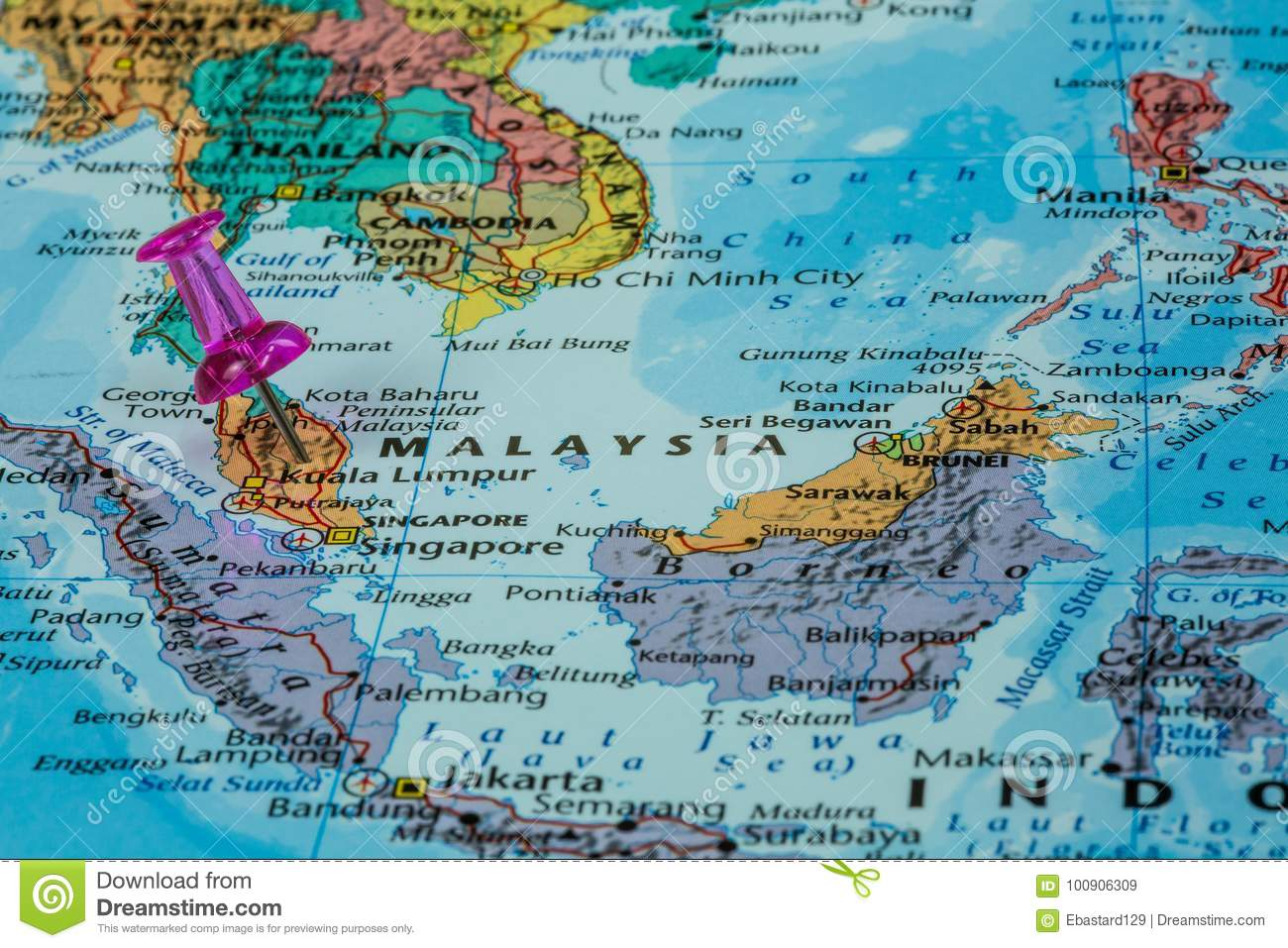 Map of malaysia stock image image of book city europe 100906309 map of malaysia gumiabroncs Choice Image
