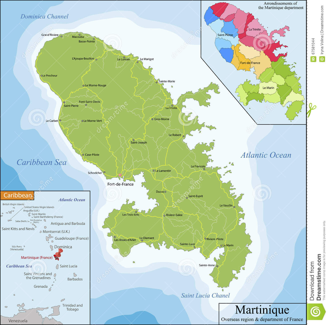Map Of Eastern Caribbean on