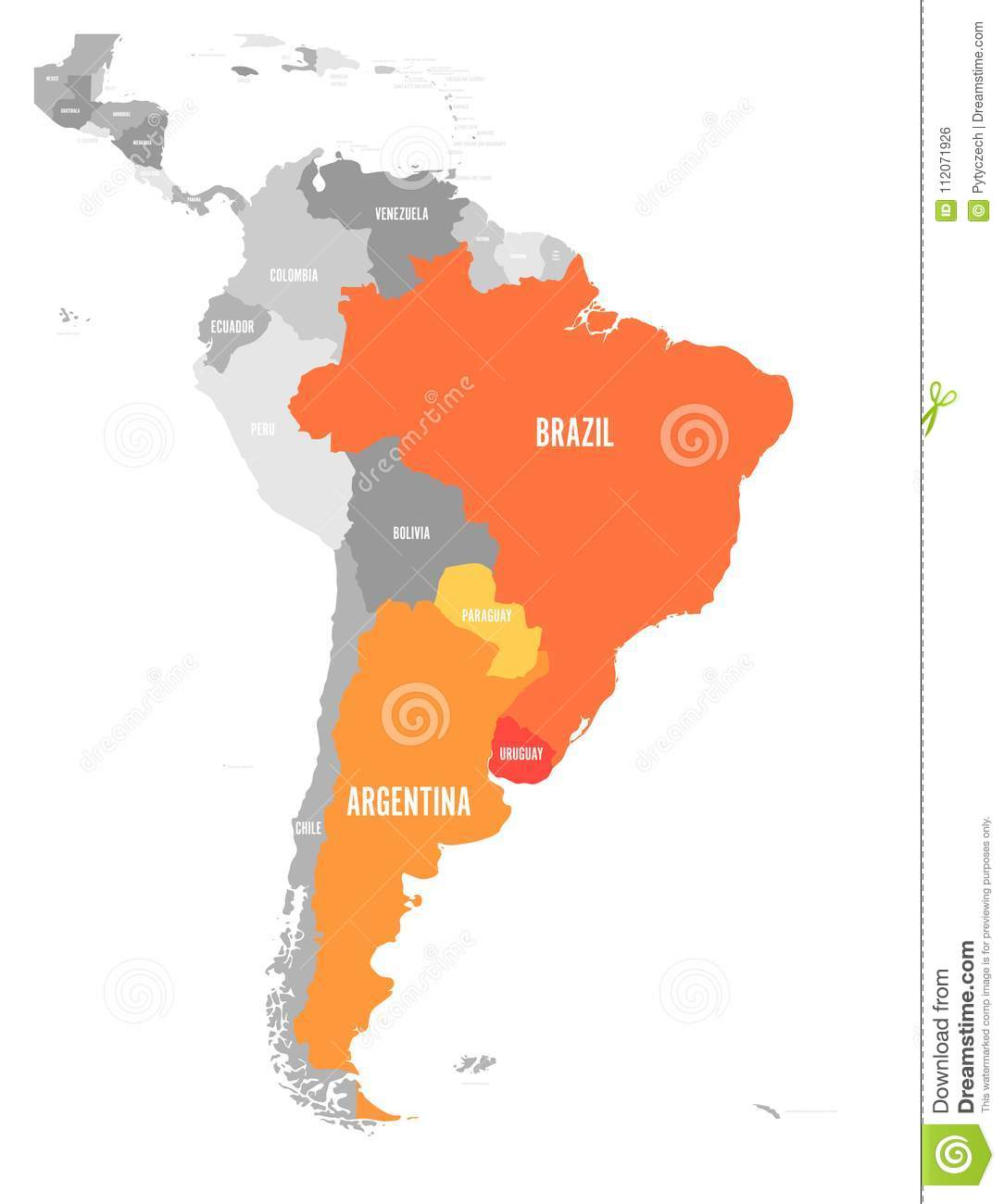 Map of mercosur countires south american trade association orange download comp gumiabroncs Images