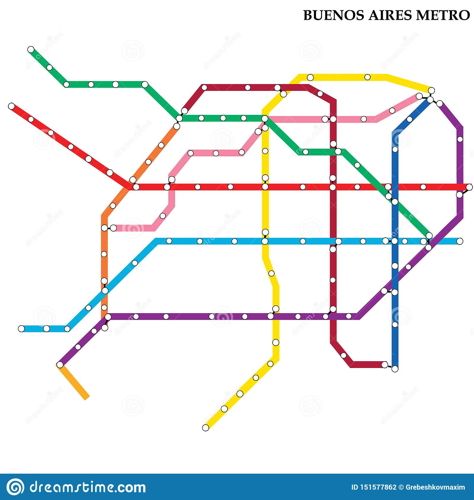Map Of The Metro Subway Stock Illustration Illustration Of