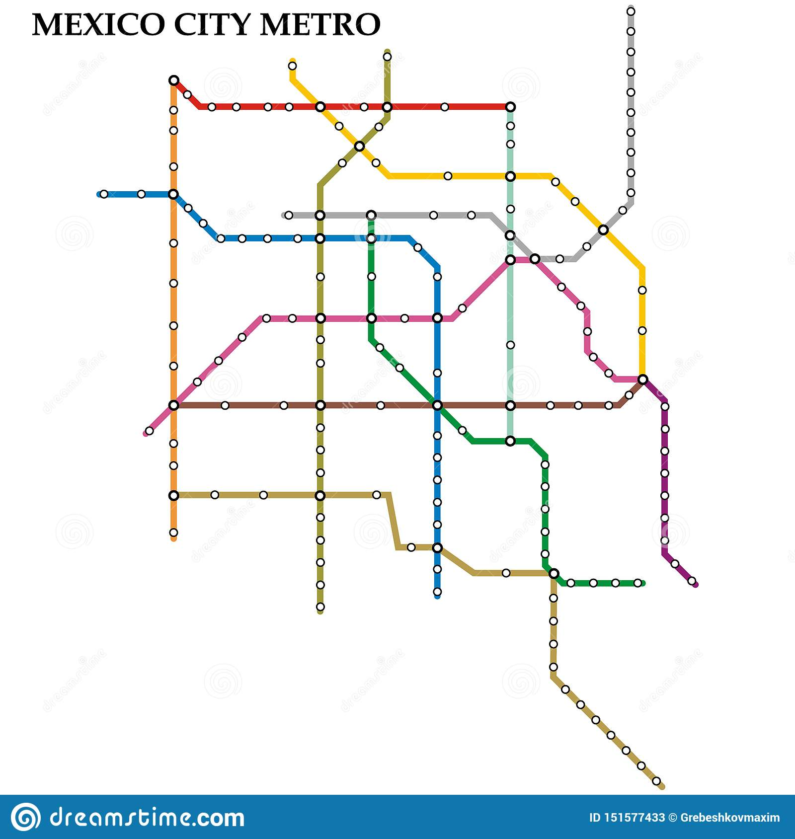 Map of the metro, Subway
