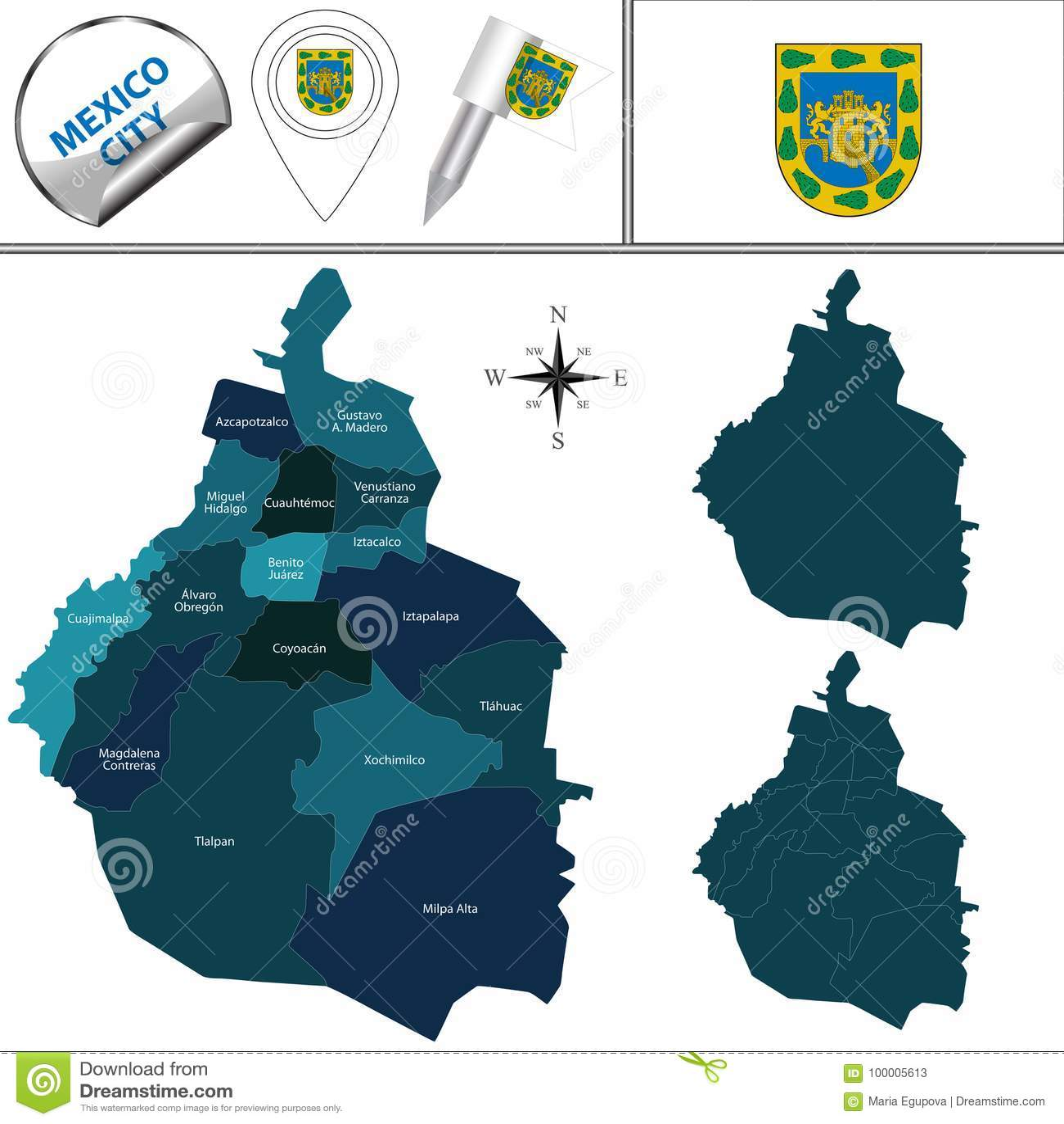 Mexico City World Map