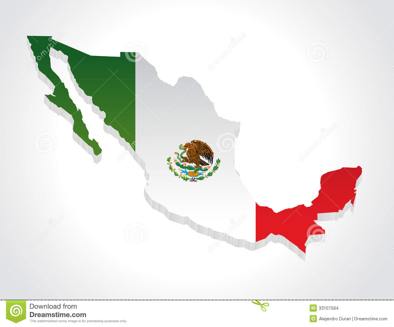 map mexico 3d stock images image 33107584