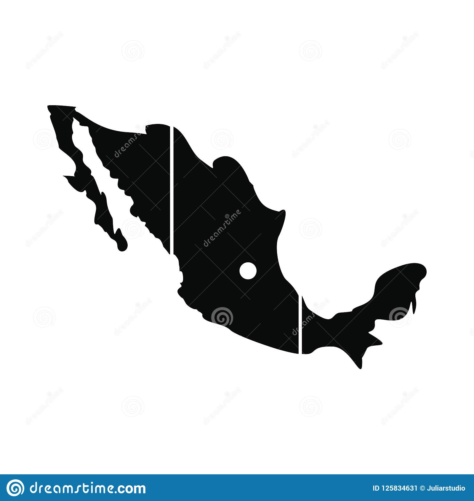 Map Of Mexico Icon Simple Style Stock Illustration Illustration