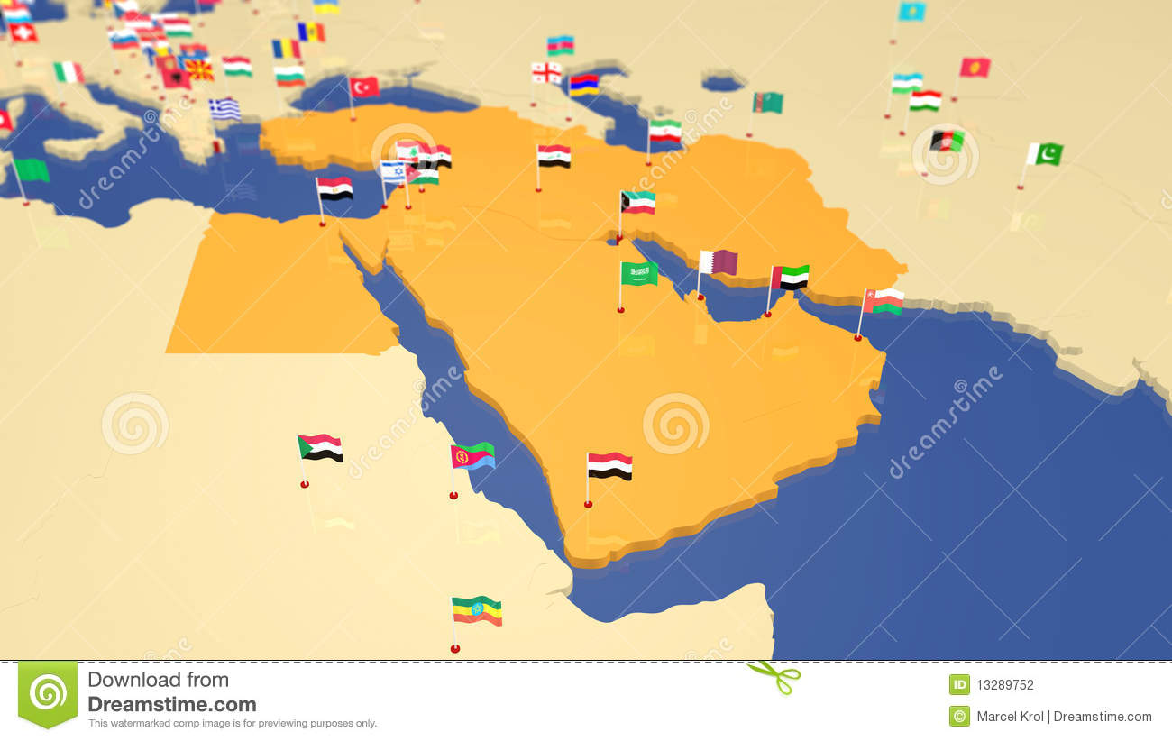Middle East Map With Capitals What is the capital city of the