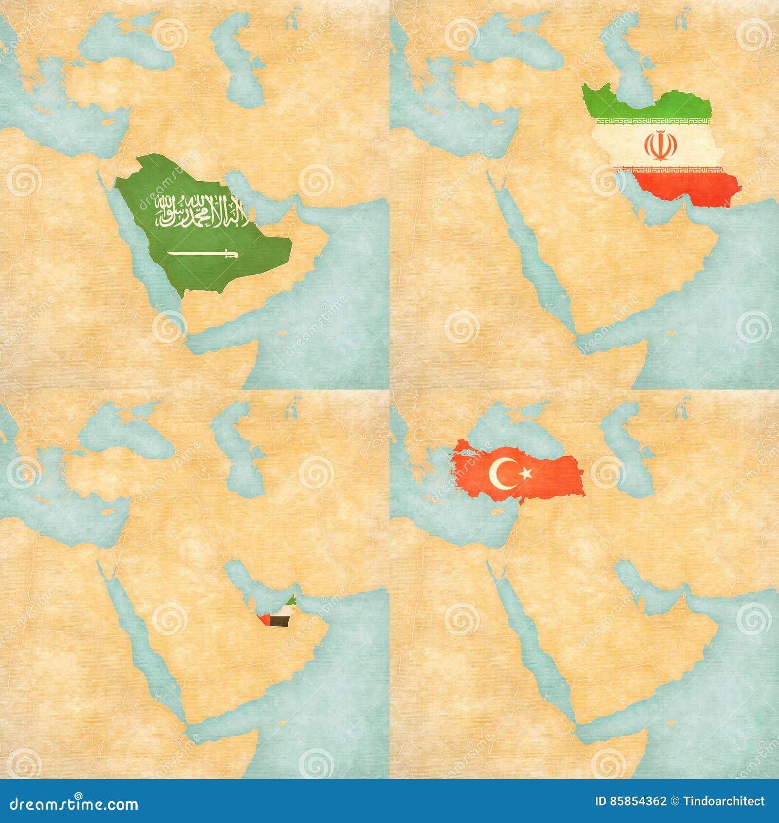 Maps Update 1024768 United Arab Emirates Map Middle East Maps – Map of Uae and Saudi Arabia