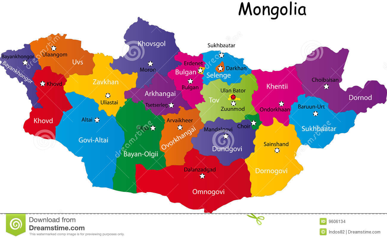 Map Of Mongolia Stock Vector Illustration Of Illustration - Mongolia map