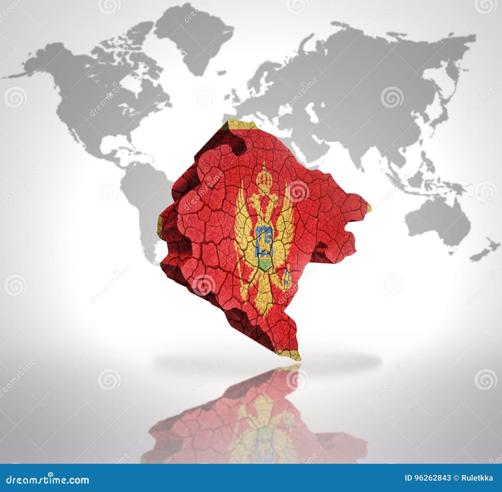 Map Of Montenegro Stock Illustration Illustration Of East 96262843