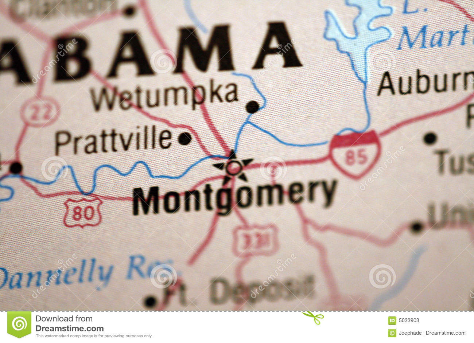 Alabama Interstate Highway Map Stock Illustration - Illustration of ...