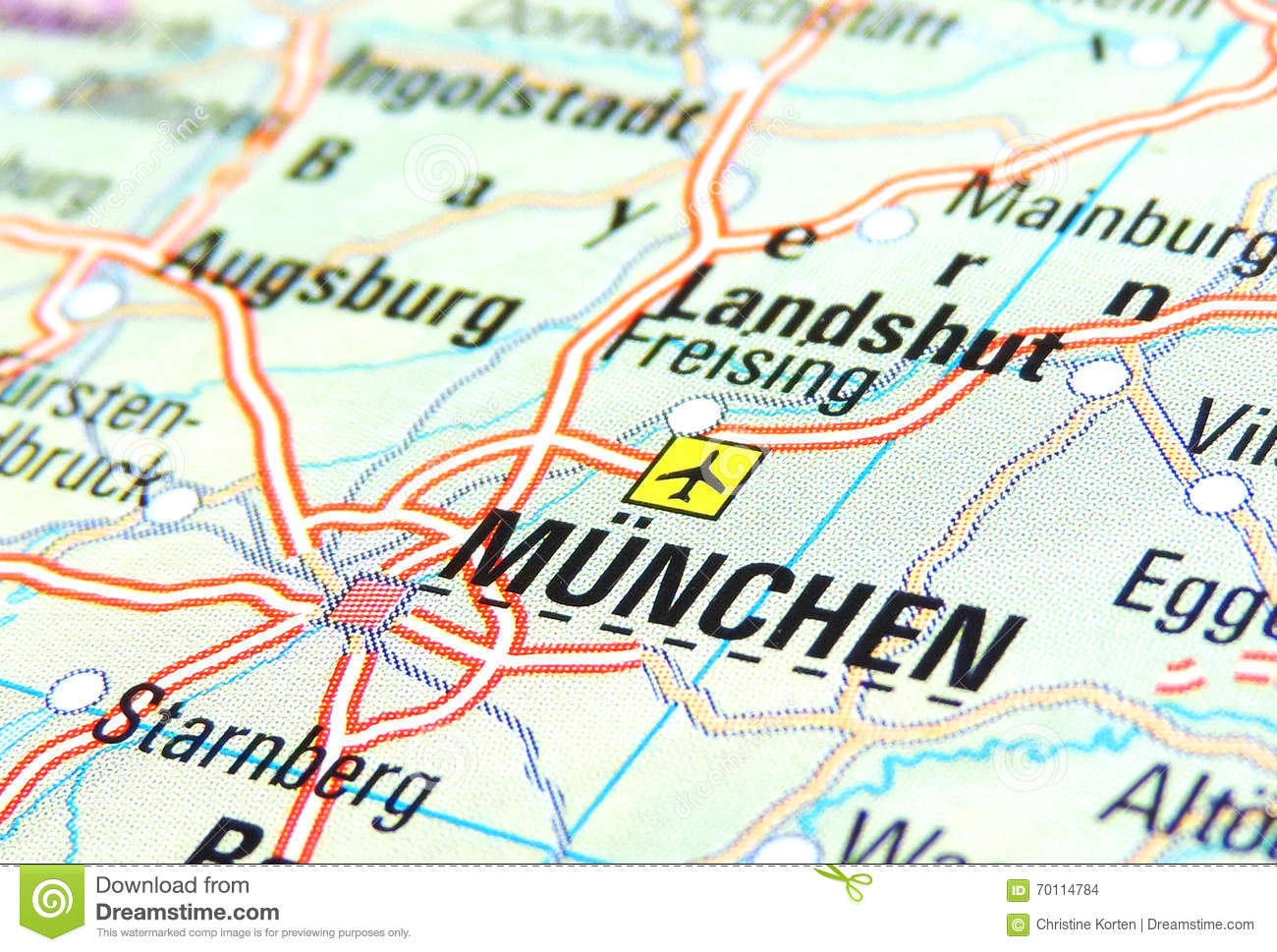 Map of Munich stock photo. Image of germany, country - 70114784