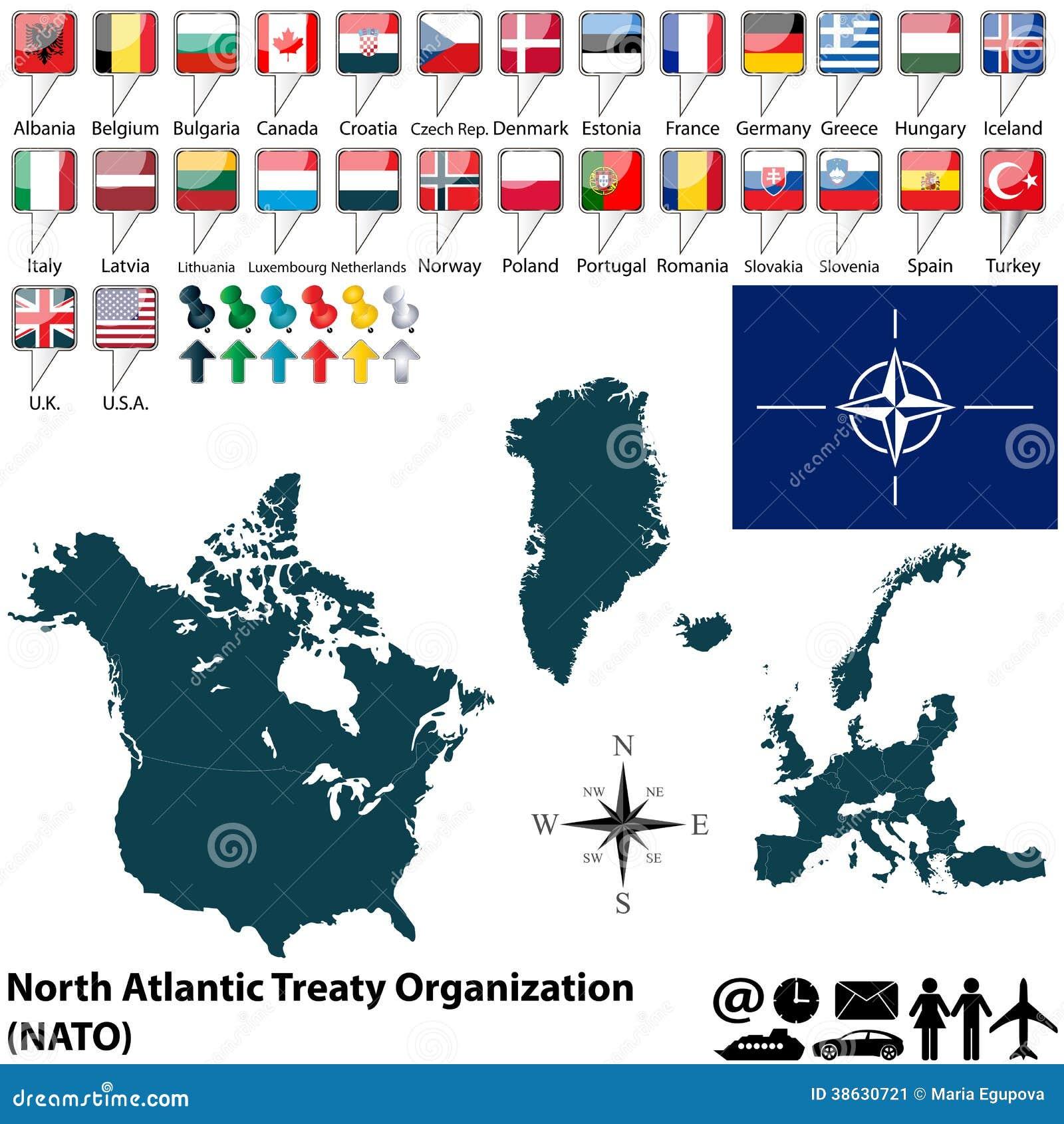 Map On Nato Stock Image Image Of Organization Background 38630721