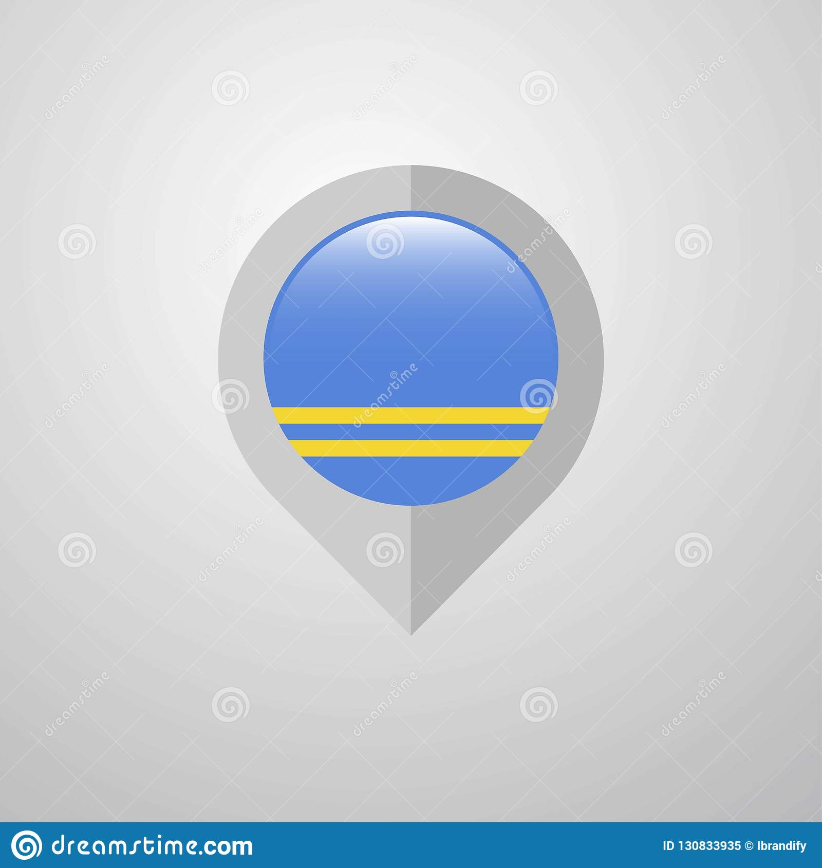 Picture of: Map Navigation Pointer With Aruba Flag Design Vector Stock Vector Illustration Of States Location 130833935