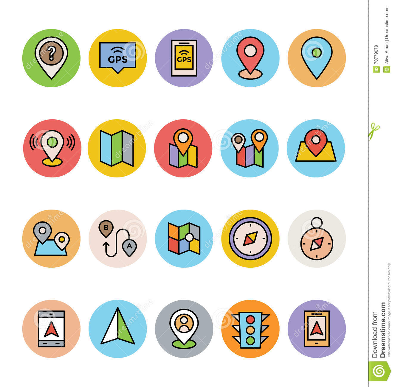 Map And Navigation Vector Icons 2 Stock Illustration ...