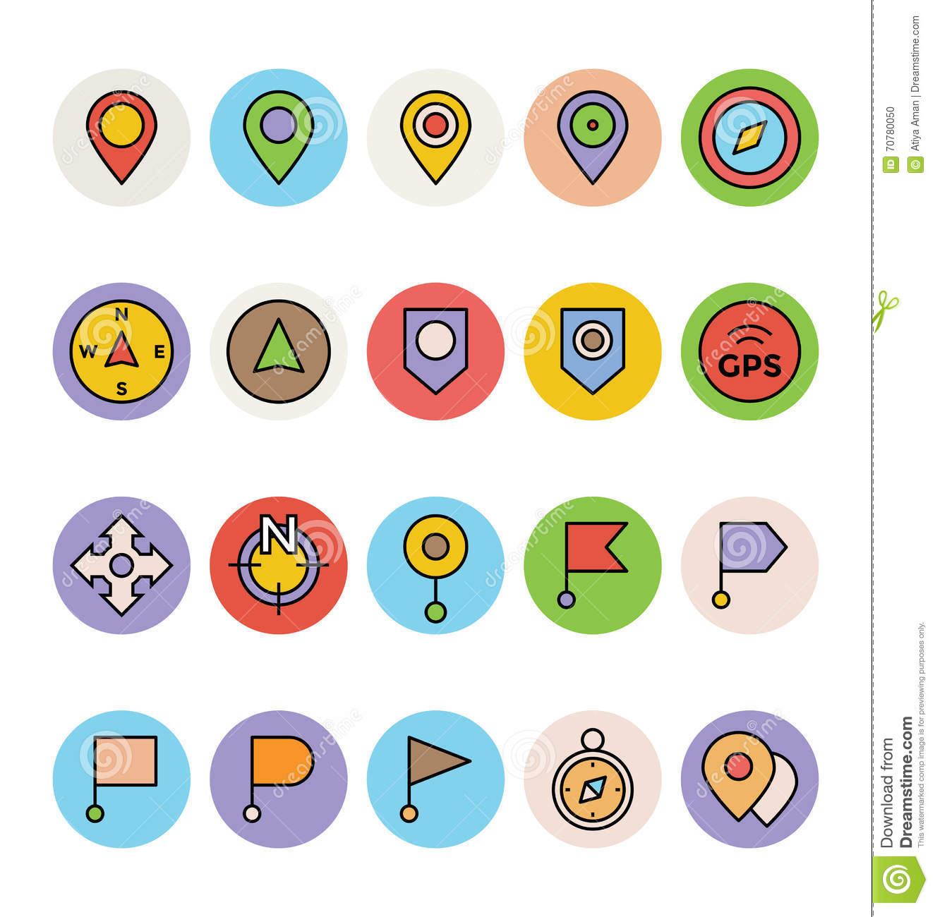 Map And Navigation Vector Icons 1 Stock Illustration ...