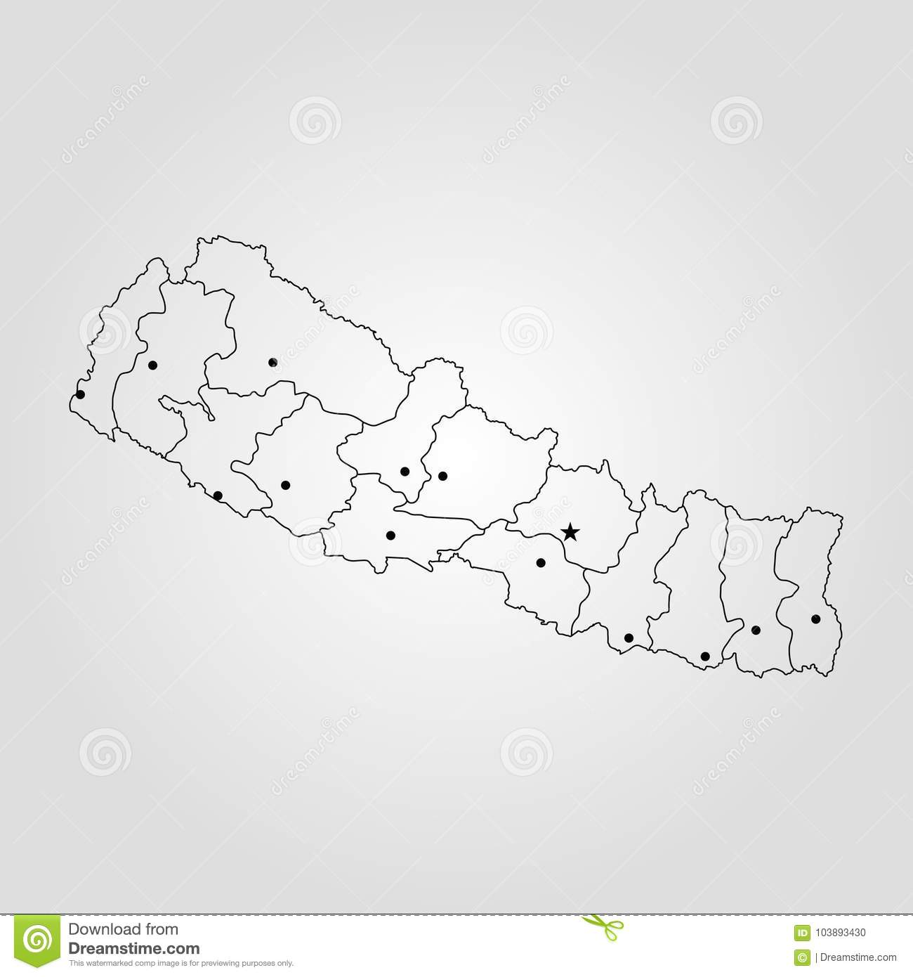 World Map Napal.Map Of Nepal Stock Illustration Illustration Of Nation 103893430