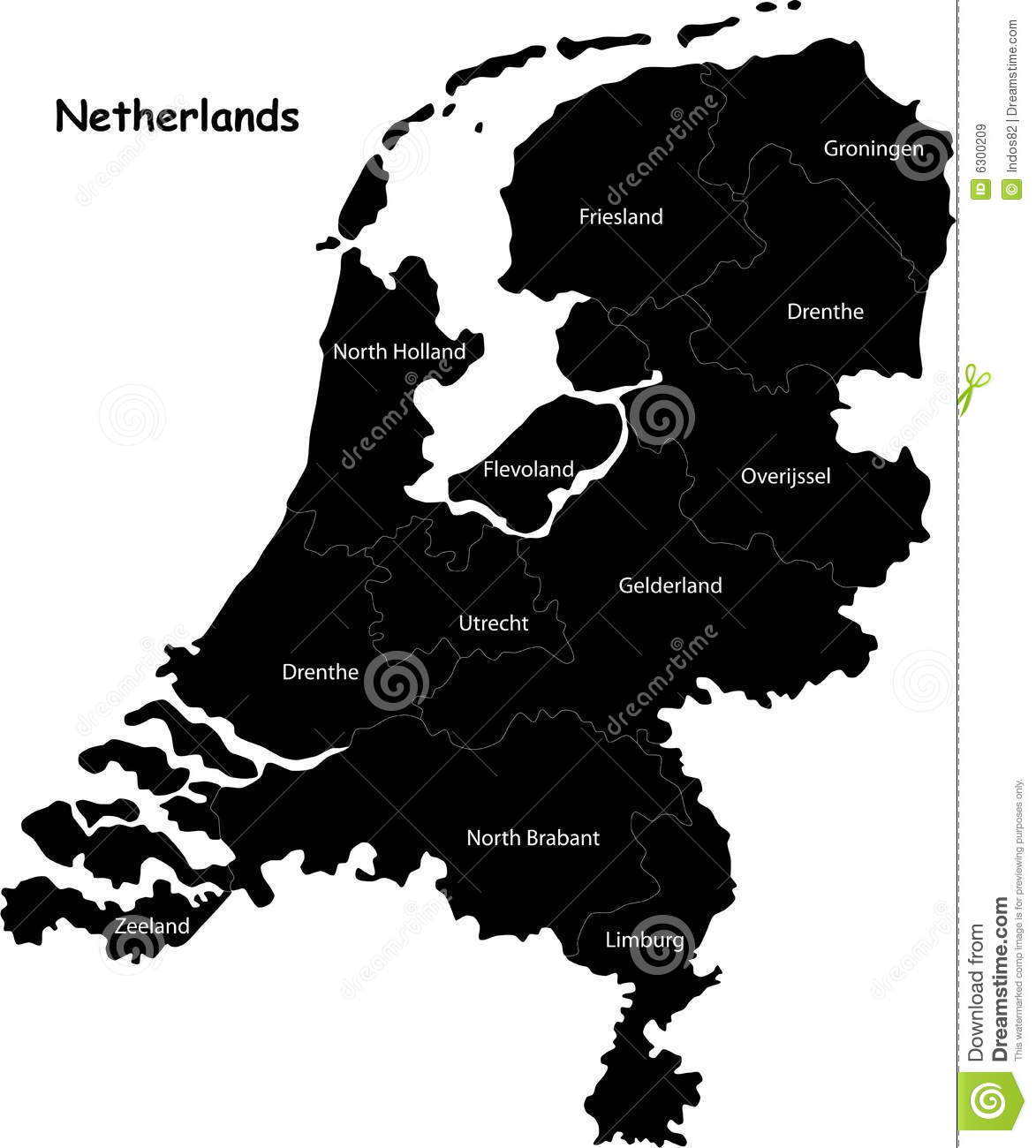 map of netherlands royalty free stock images image 6300209