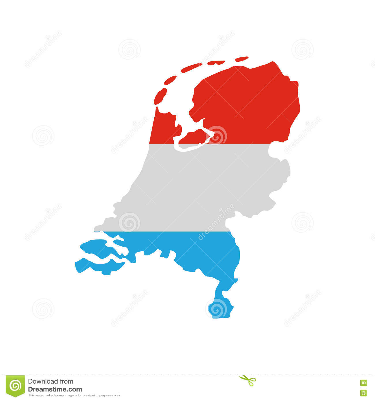 Map of the netherlands in dutch flag colors icon stock vector map of the netherlands in dutch flag colors icon gumiabroncs Choice Image
