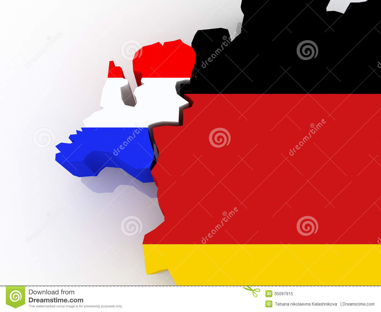 Map Of Netherlands And Germany Stock Illustration Image - Netherlands germany map