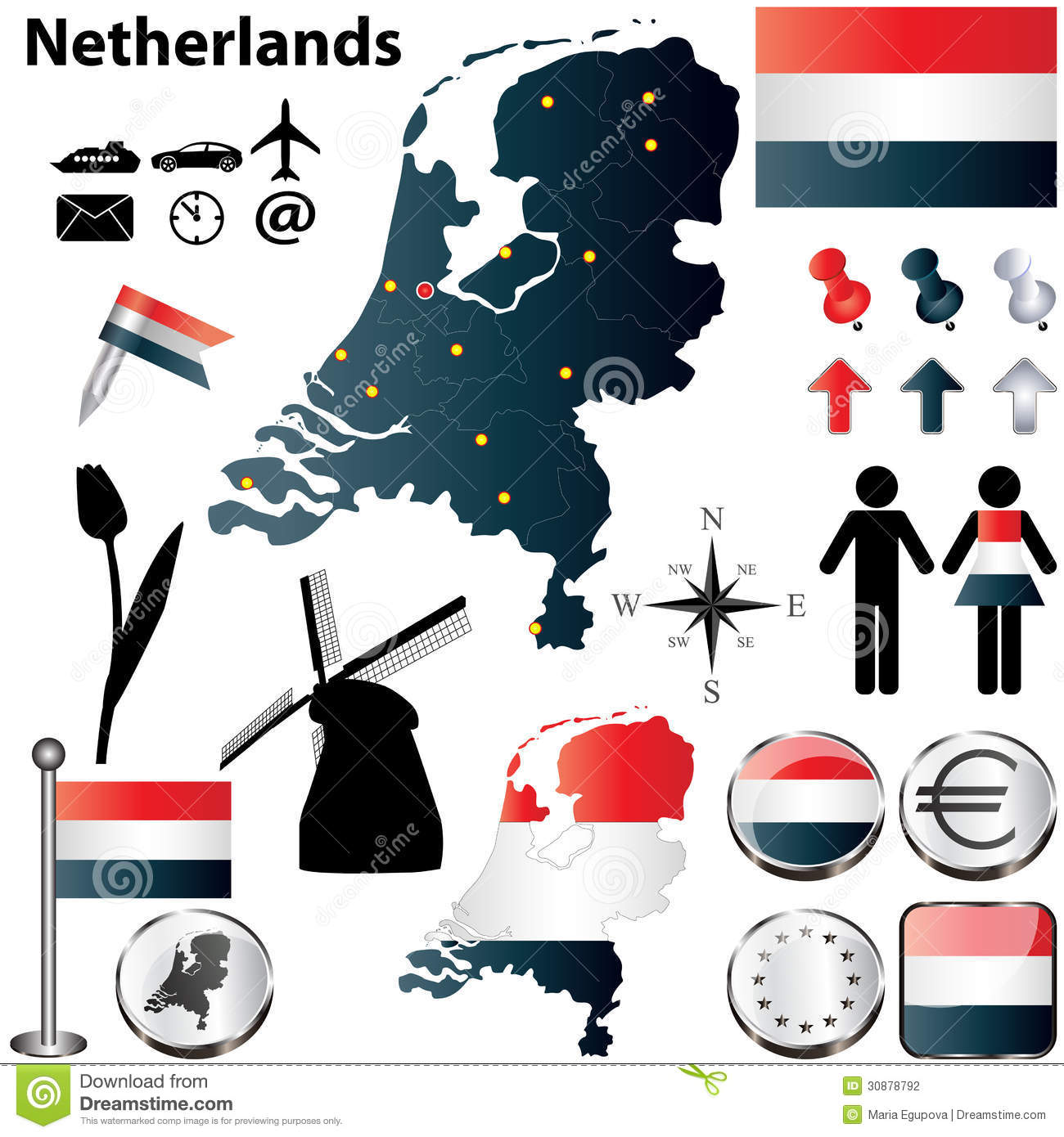 map of netherlands stock photography image 30878792