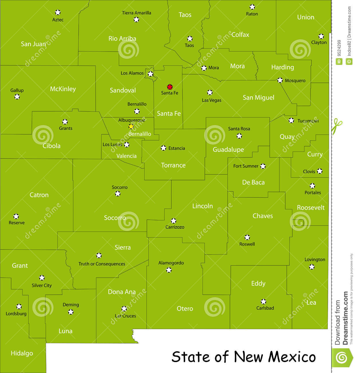 new mexico county map state and county maps of new mexico nm