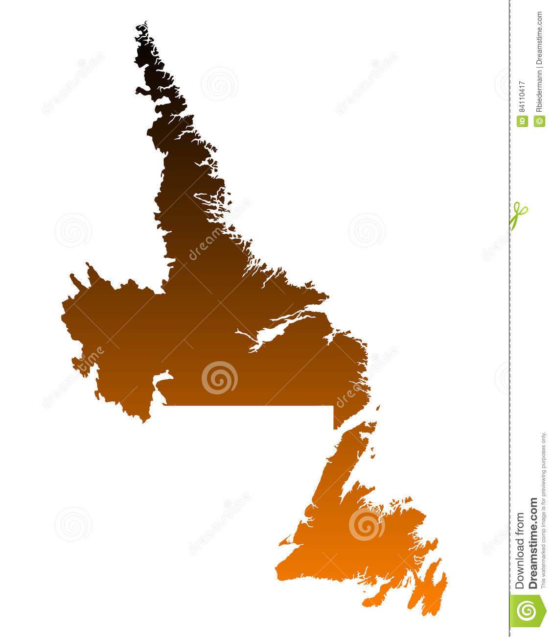 Map Of Newfoundland And Lador Stock Vector - Illustration of ... Detailed Map Of Newfoundland on