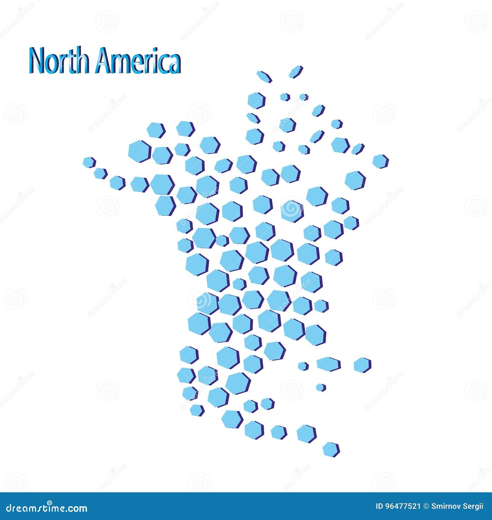 Map Of North America Canada Costa Rica Cuba Mexico Usa Stock