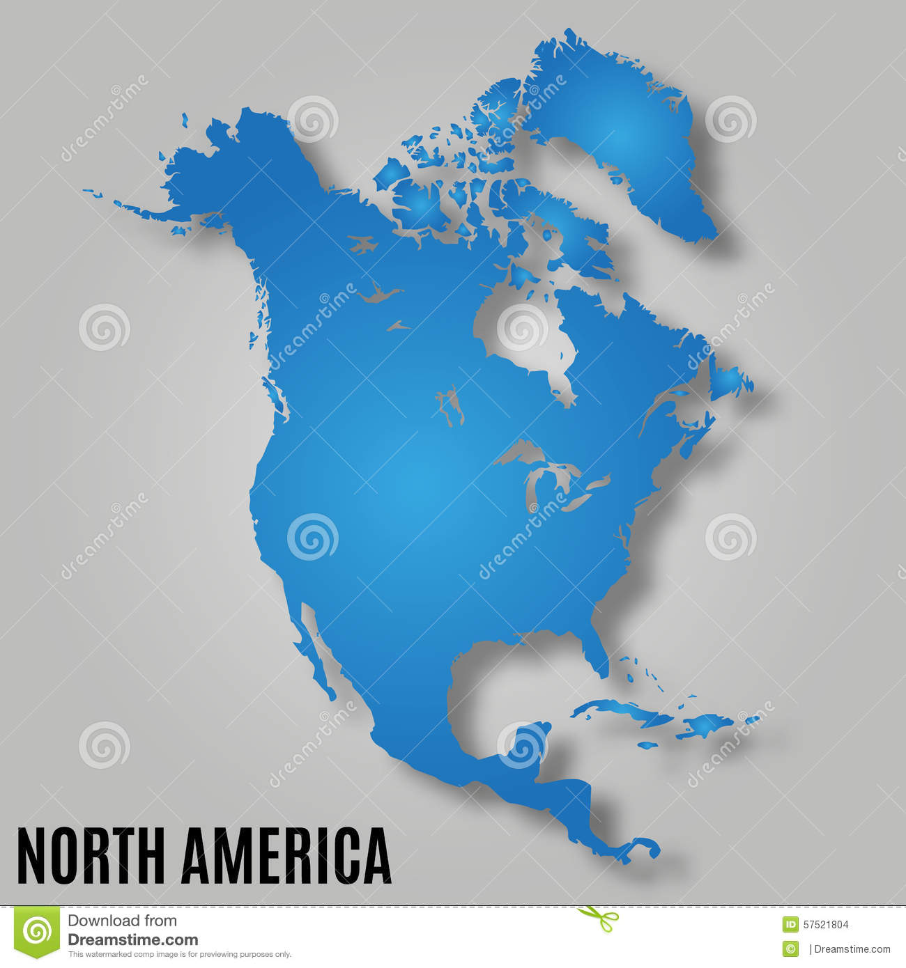 Map Of North America Stock Vector Image - Download map of north america