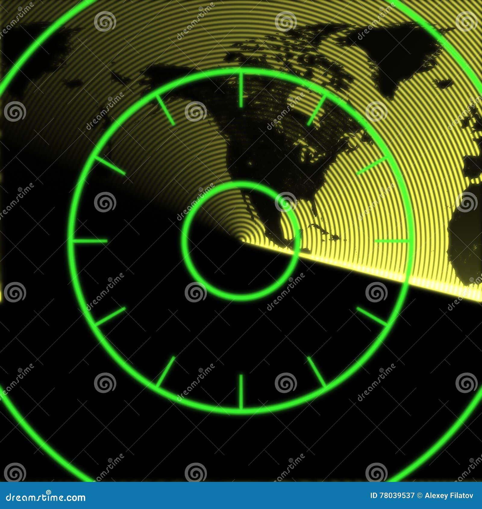Map Of North America On The Radar Stock Illustration Image - Download map of north america
