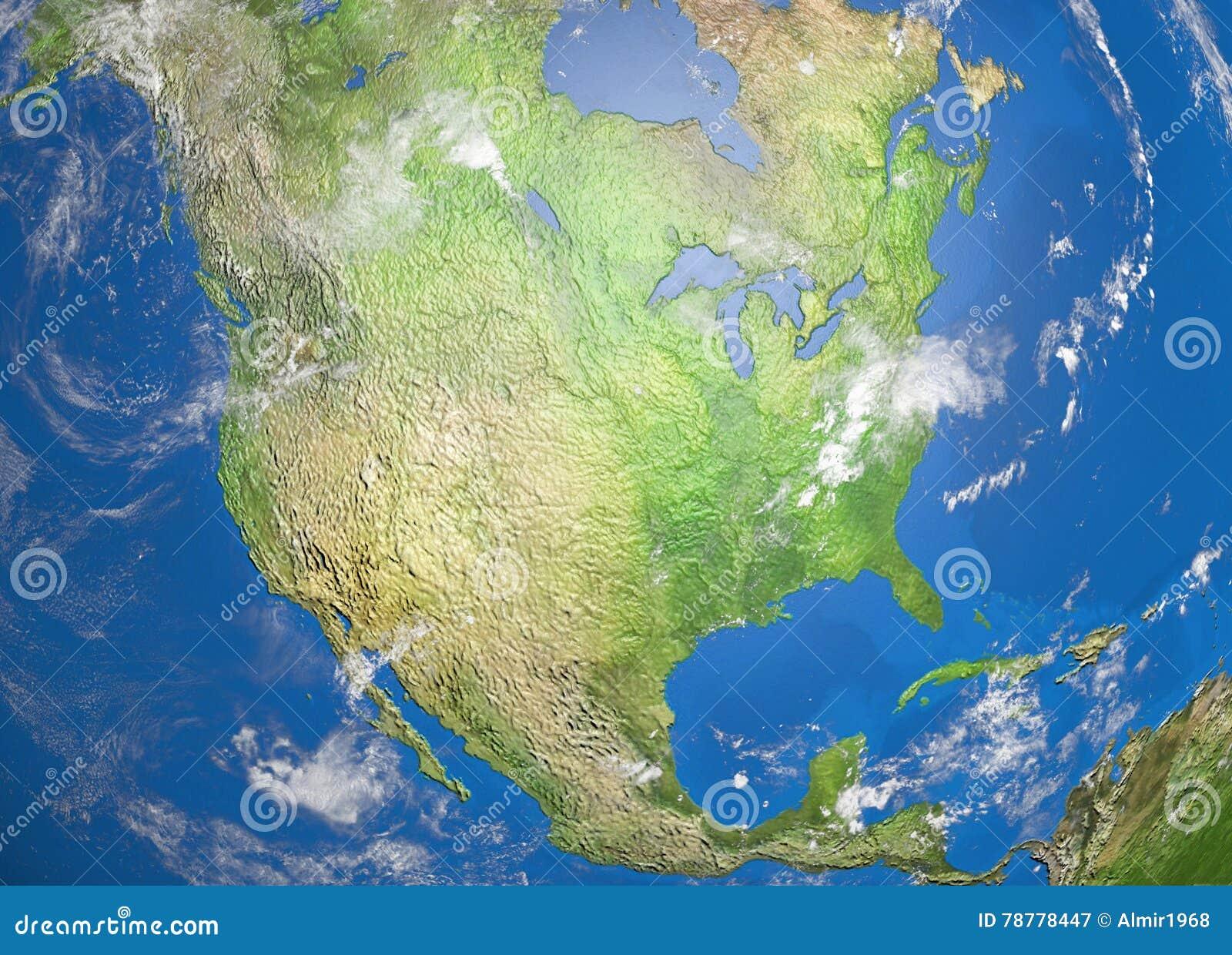 Map Of North America Stock Illustration Image - Download map of north america