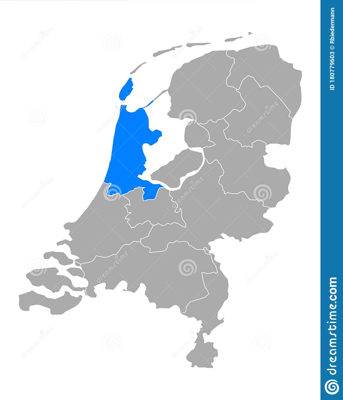 Picture of: Map Of North Holland In Netherlands Stock Vector Illustration Of Grey Vector 180779603