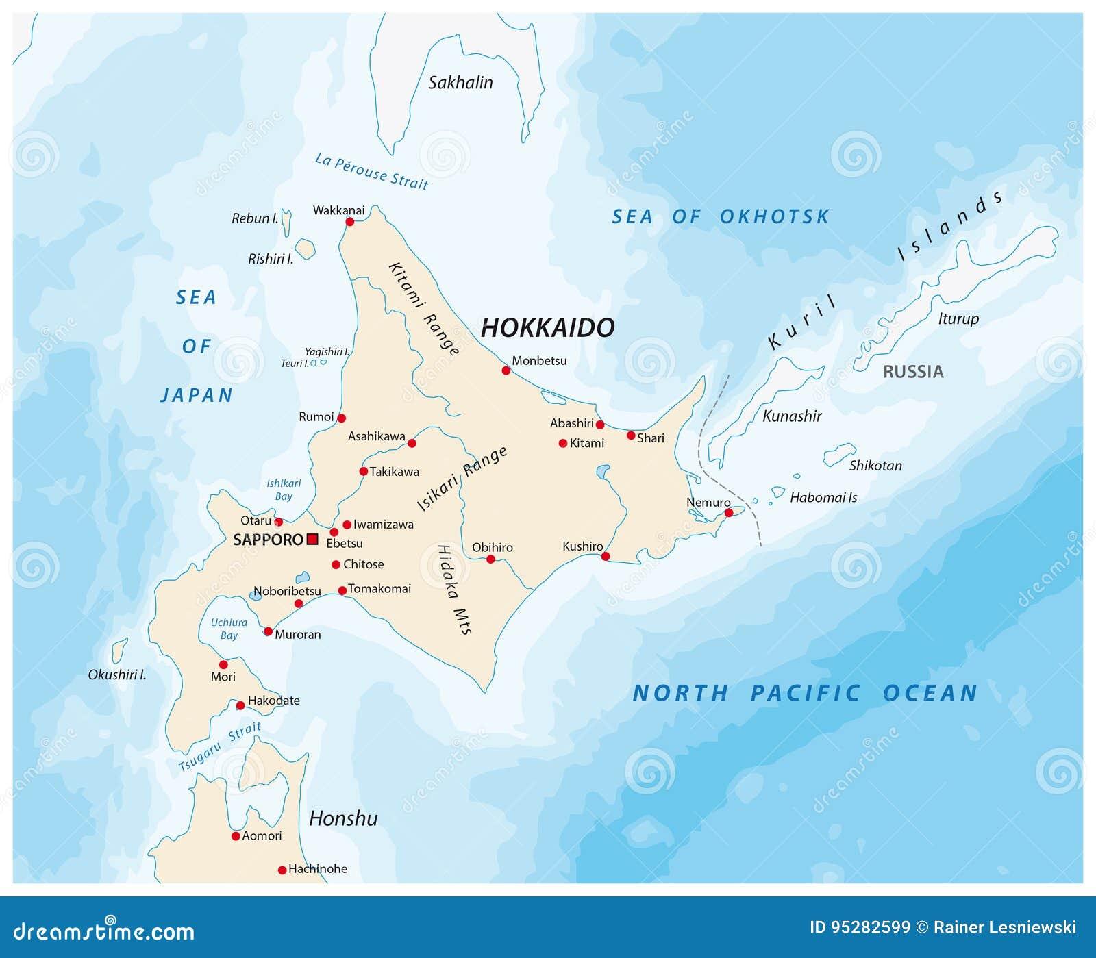 A Map Of The North Japanese Island Hokkaido Stock Vector ... Sea Of Okhotsk Japan Map on shikoku japan map, hokkaido japan map, indonesia japan map, kuril islands japan map, alaska japan map, tsugaru strait japan map, pacific ocean japan map, nansei japan map, japan korea strait map, tokyo japan map, akita japan map, sakhalin japan map, russia japan map, narita japan map, mount fuji japan map, iwo jima island japan map, kyoto japan map, japan japanese alps map, okinawa japan map, china japan map,